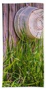 Country Bath Tub Beach Towel by Carolyn Marshall