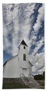 Country Church Beach Towel