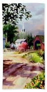 Country Covered Bridge 3 Beach Towel