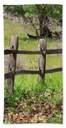 Country Fence Beach Towel