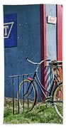 Country French Cafe Beach Towel
