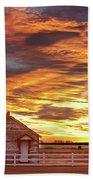 Country House Sunset Longmont Colorado Boulder County Beach Towel