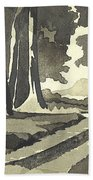 Country Lane In Evening Shadow Beach Towel