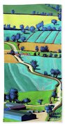 Country Lane Summer II Beach Towel