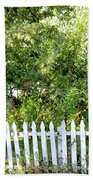 Country Picket Fence Beach Towel
