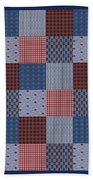 Country Quilt Beach Towel
