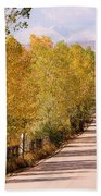 Country Road Autumn Fall Foliage View Of The Twin Peaks Beach Towel