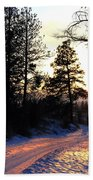 Country Road Sunset Beach Towel