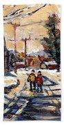 Purchase Best Original Quebec Winter Scene Paintings Achetez  Paysage De Quebec Cspandau Art Beach Towel