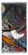Country Rock Guitar Beach Towel