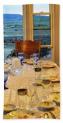 Country Table Setting Beach Towel