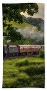 Country Train Ride Beach Towel
