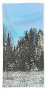 Country Winter 15 Beach Towel