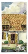 Countryside House In France Beach Towel