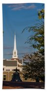 County Courthouse Bell And Church Spire Beach Towel