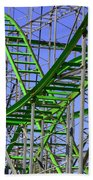County Fair Thrill Ride Beach Towel