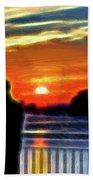 Romantic Sunrise. Beach Towel