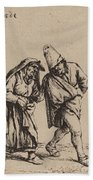 Couple Walking Beach Towel