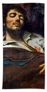 Courbet: Self-portrait Beach Sheet