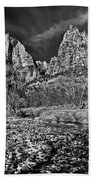 Court Of The Patriarchs II - Bw Beach Towel