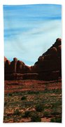 Courthouse Rock In Arches National Park Beach Towel