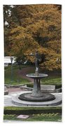 Courthouse Square In Rockville Maryland Beach Towel