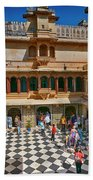 Courtyard, City Palace, Udaipur Beach Towel