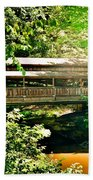 Covered Bridge At Lanterman's Mill Beach Towel