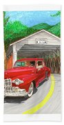 Covered Bridge Lincoln Beach Towel