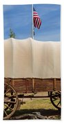 Covered Wagon At Fort Bluff Beach Towel