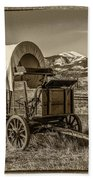 Covered Wagon Beach Towel