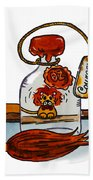 Cowardly Lion From The Wizard Of Oz   Beach Towel