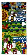 Cowbirds Beach Towel by Rojax Art