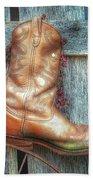 Cowboy Boot Rack Beach Towel
