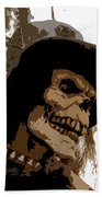 Cowboy Skeleton Beach Towel
