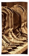 Cowgirl Boots Collection Beach Towel