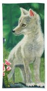 Coyote Pup Beach Towel by Terry Lewey