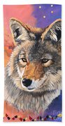 Coyote The Trickster Beach Towel