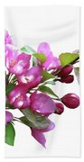 Crabapple Blossoms Beach Towel