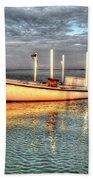 Crabbing Boat Beth Amy - Smith Island, Maryland Beach Towel