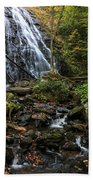 Crabtree Falls In Autumn Beach Towel