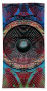 Cracked Music Speaker 3 Beach Towel