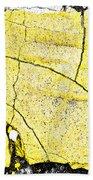 Cracked Yellow Paint Beach Towel