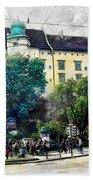 Cracow Art 2 Wawel Beach Towel