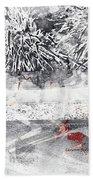 Cranberries In Winter Beach Towel