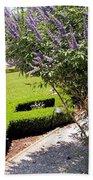 Crane Cottage Garden In Spring Beach Towel