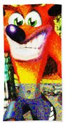Crash Bandicoot Beach Towel