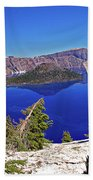 Crater Lake And Wizard Island Beach Towel