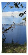 Crater Lake Perspective Beach Towel