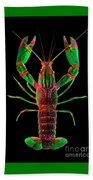 Crawfish In The Dark - Greenred Beach Towel